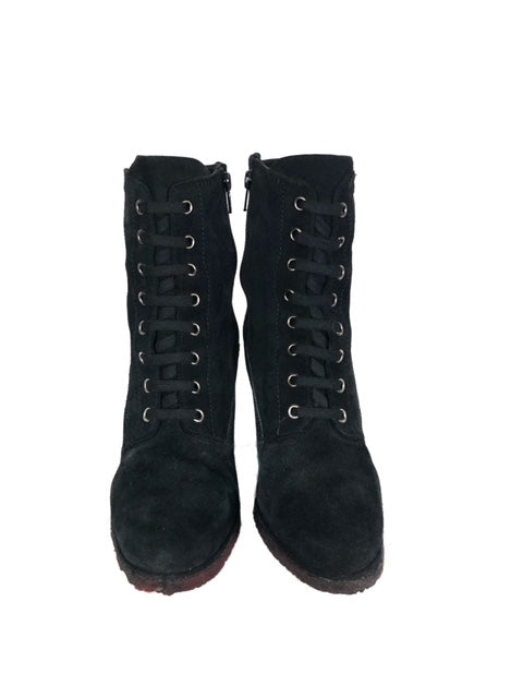 Stuart Weitzman Size 8.5 Suede Lace-up Boot