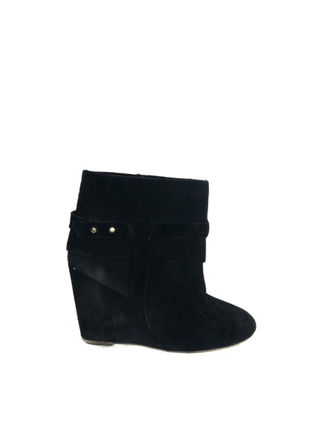 Tila March Size 38 Suede Wedge  Booties
