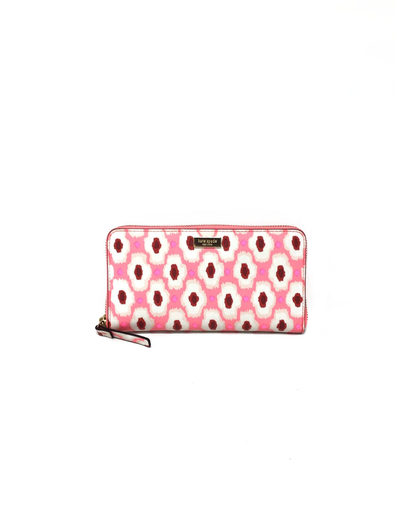 Kate Spade Printed Leather Continental Wallet