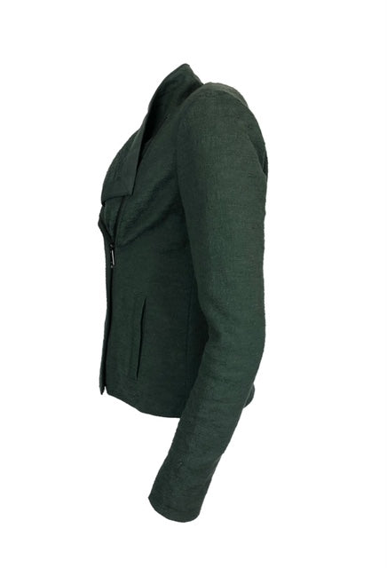 Vince Size XS Green Textured Cotton Jacket