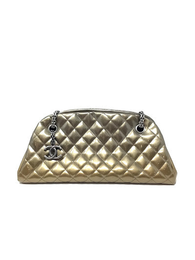 "Chanel Bronze '11 ""Just Mademoiselle' Patent Quilted"