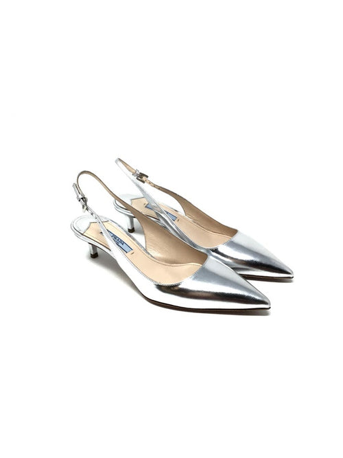 Prada W Shoe Size 36.5 Pointed Toe Sling Back Low Heel Shoes