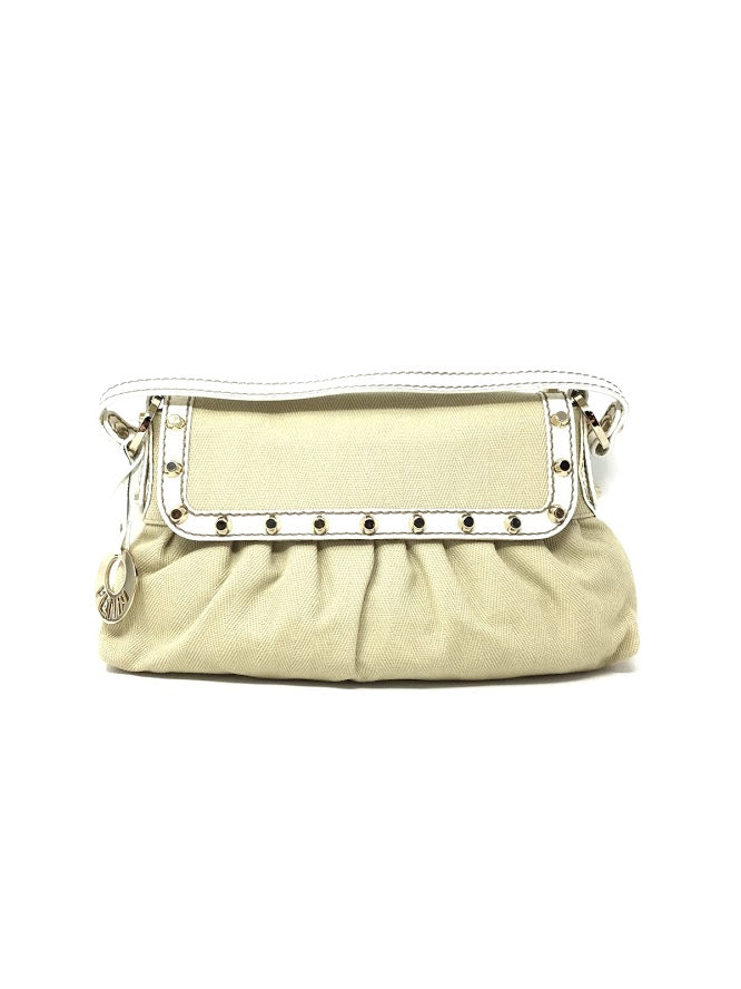 Fendi Beige Canvas Studded 'Chef' Shoulder Bag