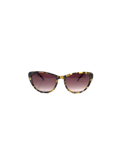 Ted Baker Tortoise Cat Eye w/ Logo Stem Sunglasses