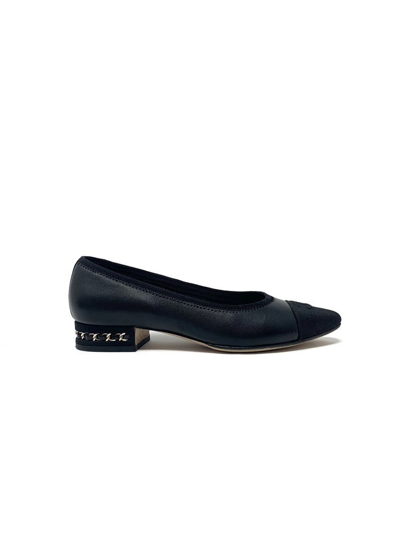 Chanel W Shoe Size 37 Flats