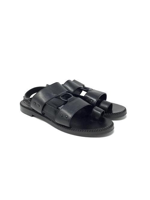 Bottega Veneta 40 Leather Gladiator Jesus Sandal