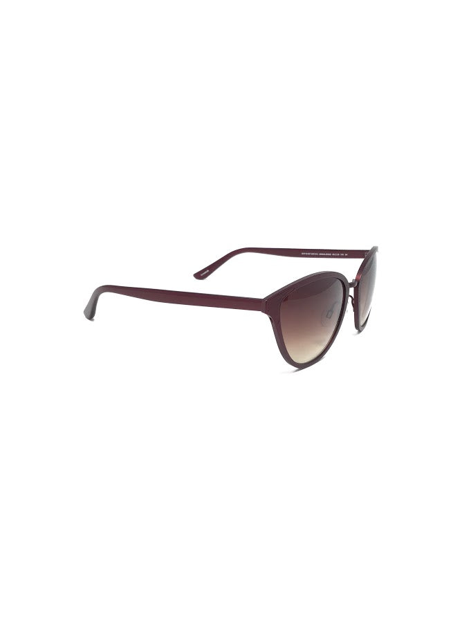 Oliver Peoples Burgundy Annaliesse Cat Eye Sunglasses