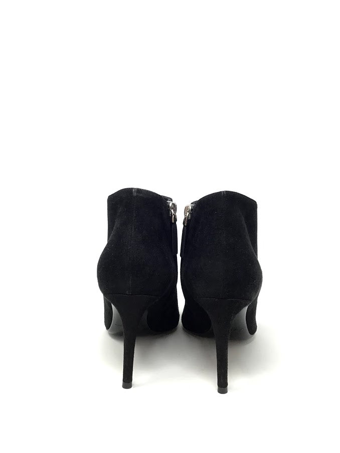 Ralph Lauren 37 Suede Pointed Toe Booties W/ Side Zip