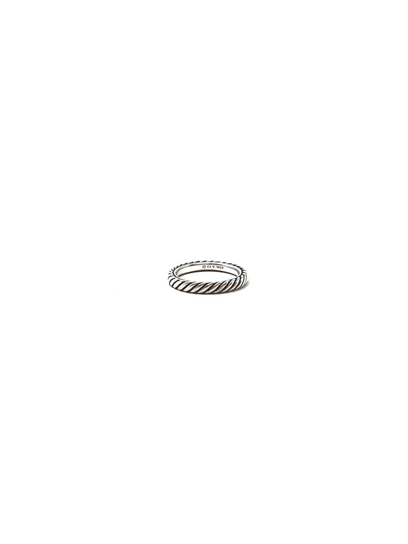 David Yurman 3mm Cable Collectibles Sterling Band Ring