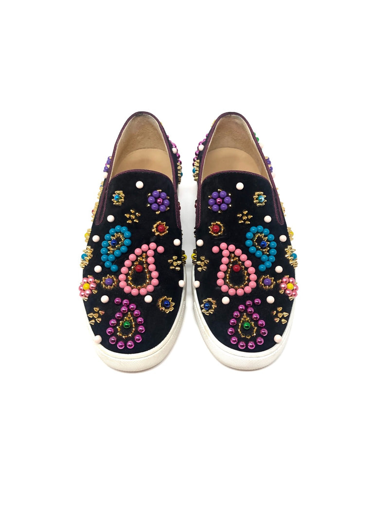 Christian Louboutin W Shoe Size 36 'Boat Candy' Beaded Sneakers