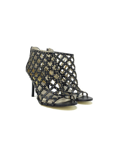 Michael by Michael K W Shoe Size 7.5 Studded 'Yvonne' Cage Heels