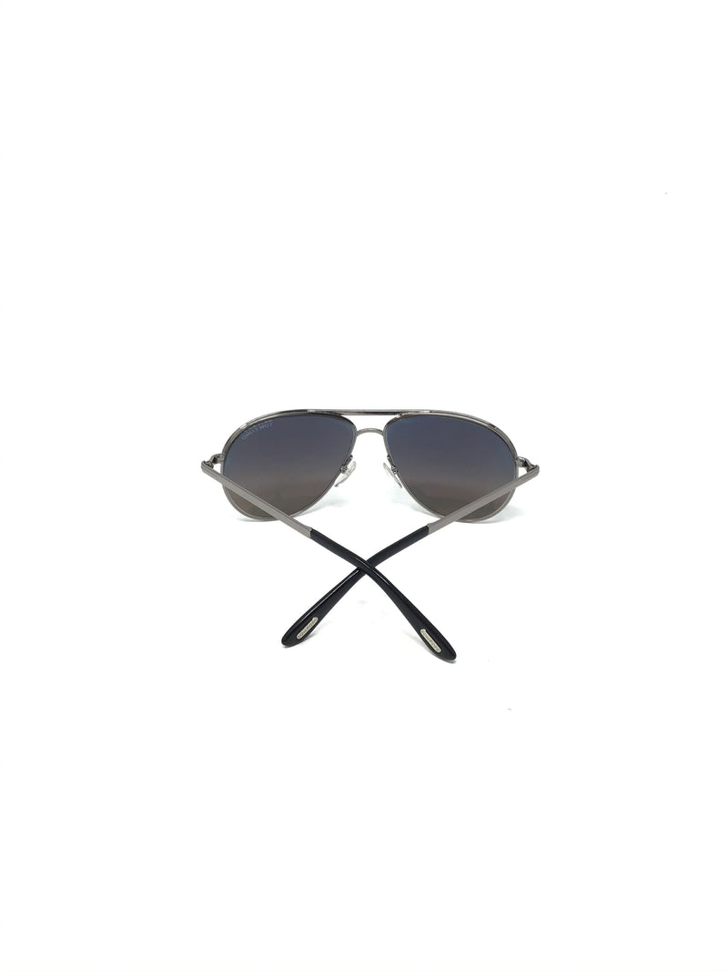 Tom Ford 'Marko' Blue Lens Aviator Sunglasses