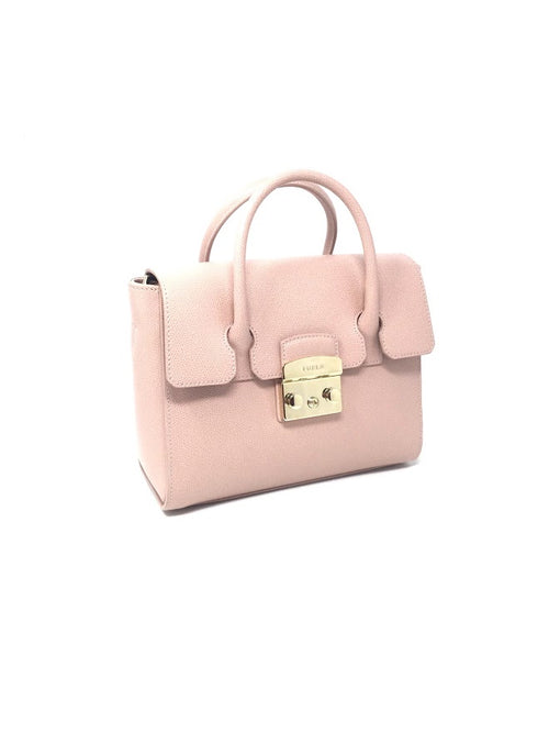 Furla Pale Pink 'Metropolis' Small Top Handle