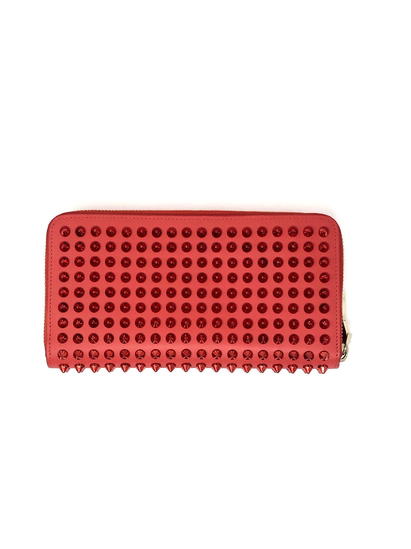 Christian Louboutin 'Panettone' Spike Zip Around Wallet