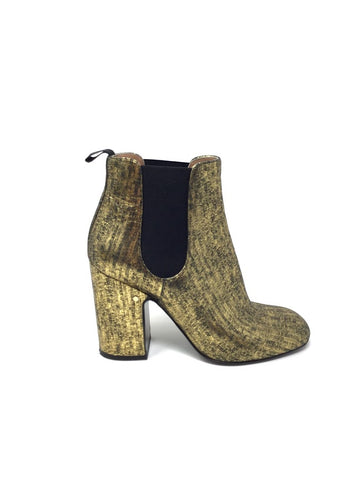 Laurence Dacade 39.5 Gold Metallic 'Mila' Booties
