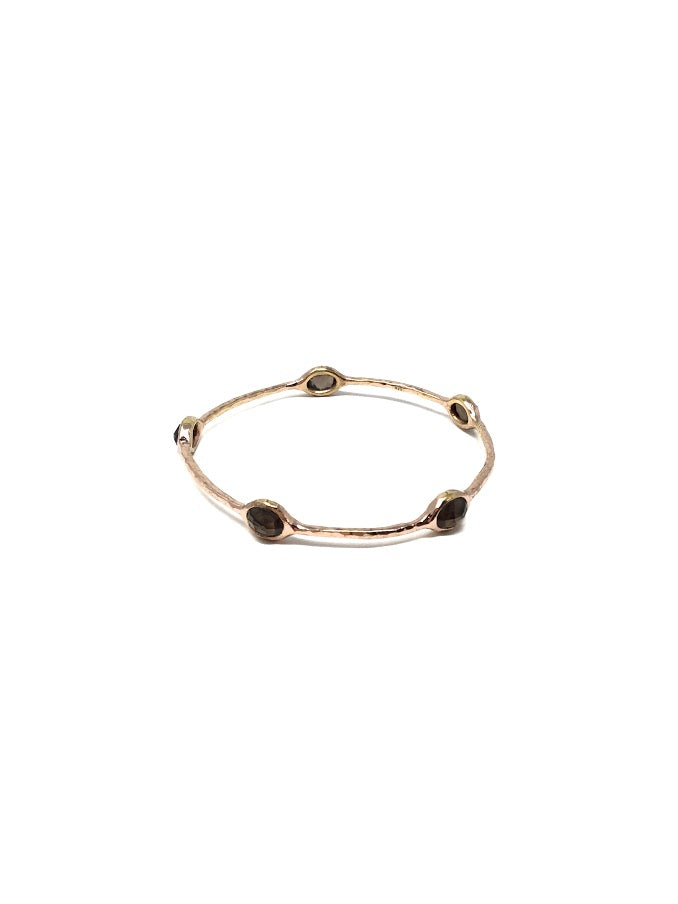 Ippolita Smokey Quartz Rose Gold Bracelet Rose' Collection Bangle