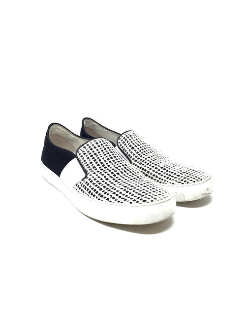 Chanel 40 Woven Two Tone Slip-On Sneakers