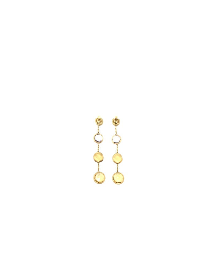 Marco Bicego Gold 18K Circle Mixed Gemstones Drop Earrings