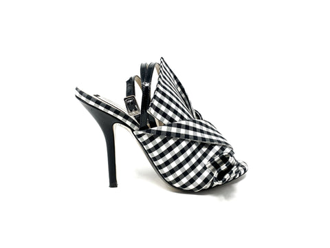 No21 Gingham High Heel Sandal