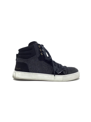 Saint Laurent 38 'Malibu' Suede/Patton Leather Lace Up Sneaker