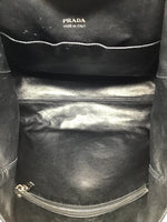 Prada Black Nylon/Leather Grommets Detail Tote