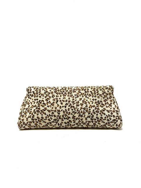 Alaia Animal Print Clutch