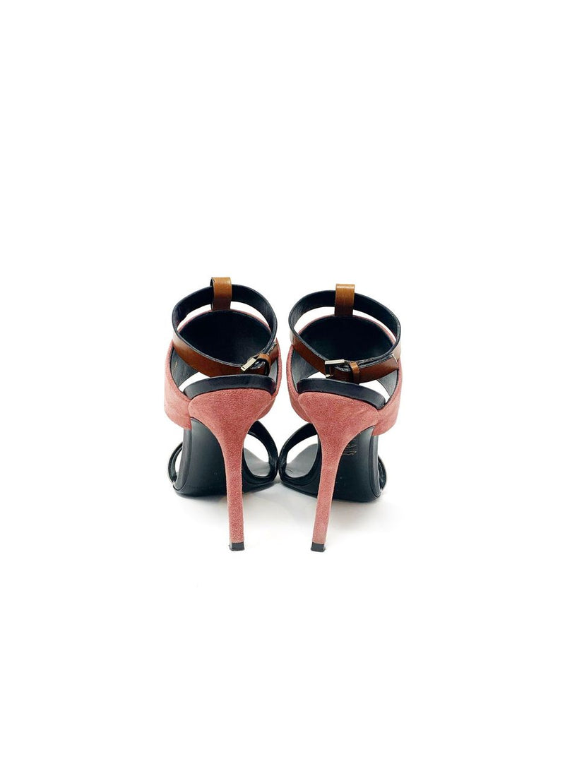 Diego Dolcini Taupe/Camel/Rose Strappy High Heels