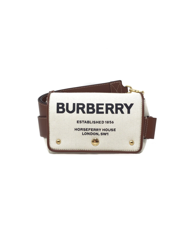 Burberry Small Horseferry Print Cotton Canvas Crossbody