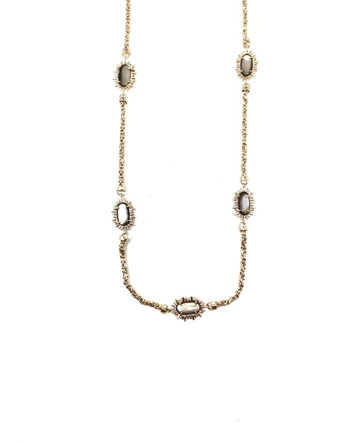 Kendra Scott Mother Of Pearl Wrap Around ChainNecklace