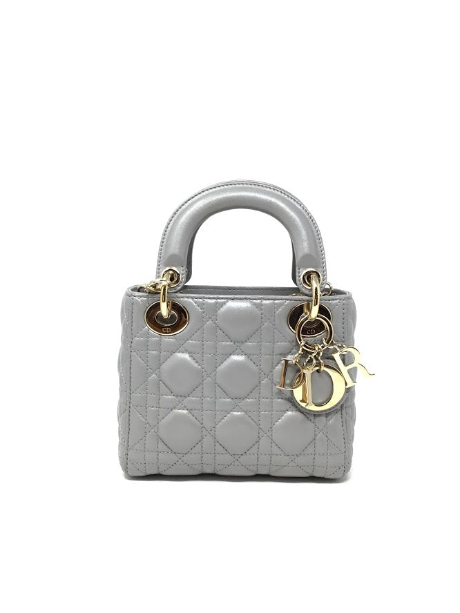 "Dior Mini 'Lady Dior"" Crossbody W/ Chain"
