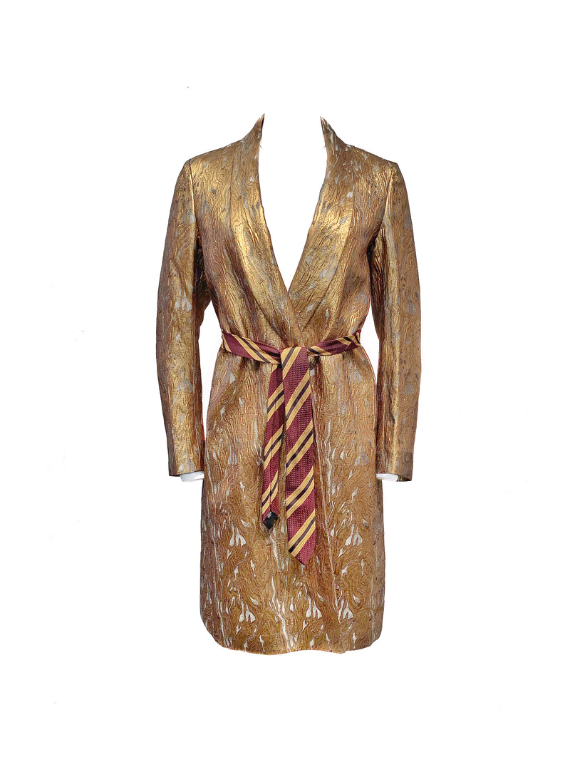 Dries van Noten Size 36 Gold Jacket