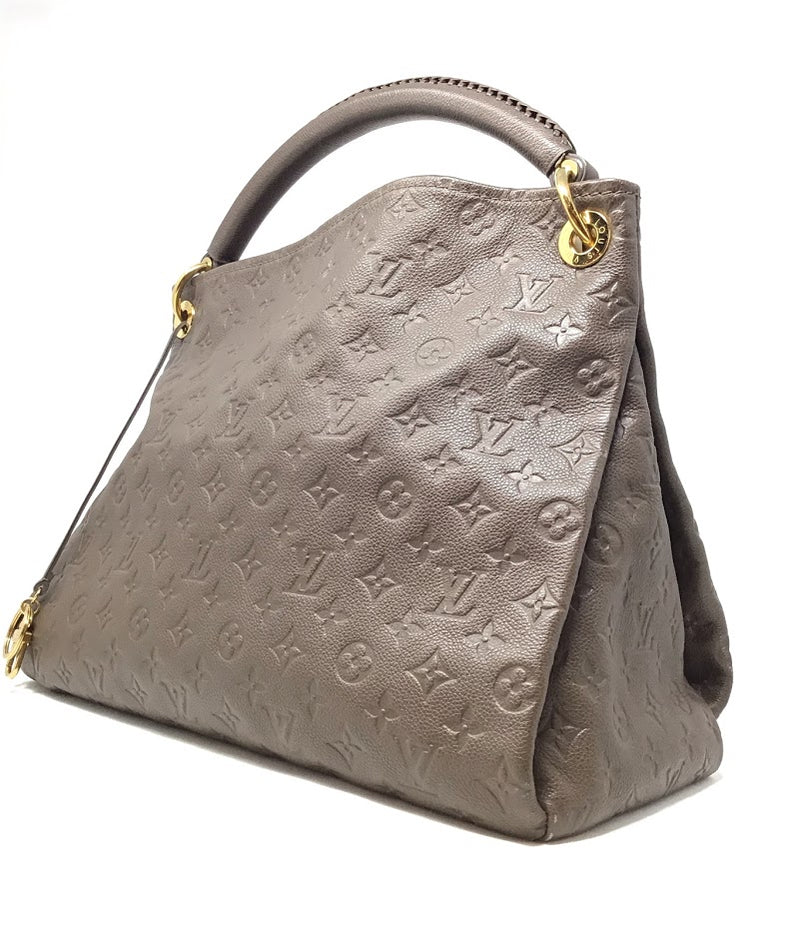 Louis Vuitton Taupe '11 'Artsy' MM Empreinte Handbag