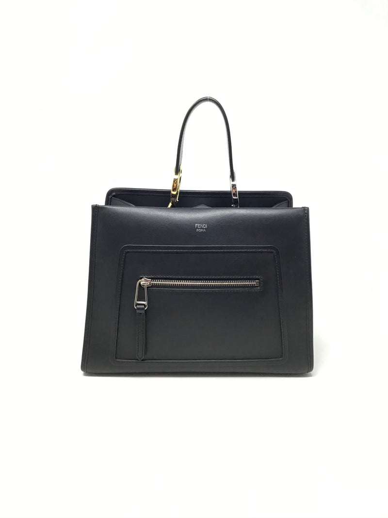 Fendi Black '18 Small 'Runaway' Calfskin Leather Tote