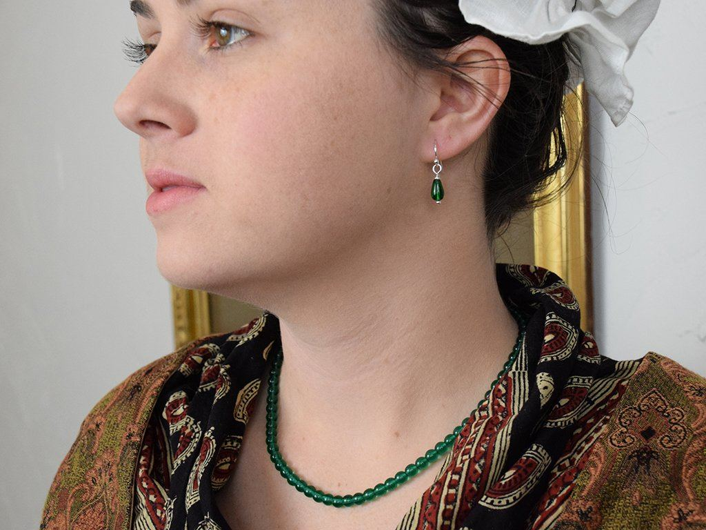 Emerald Glass Necklace - Samson Historical