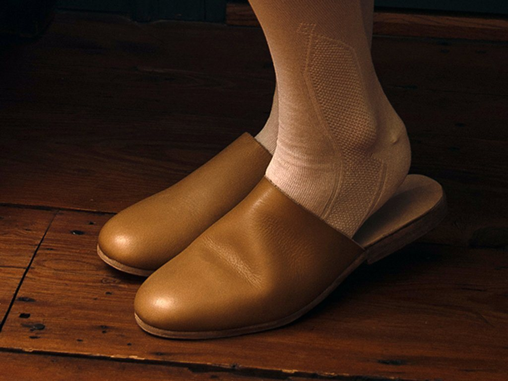 Low Heeled Leather Mules - Samson Historical