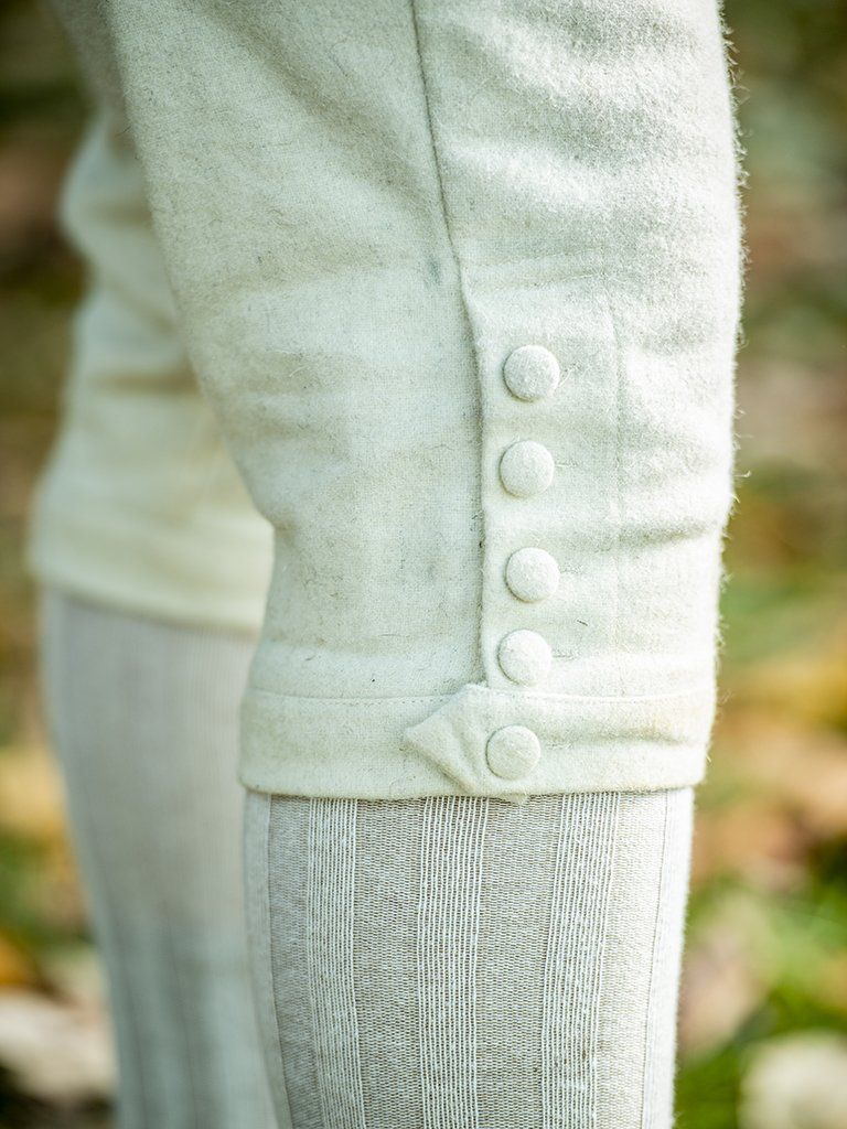 White Wool Breeches - Samson Historical