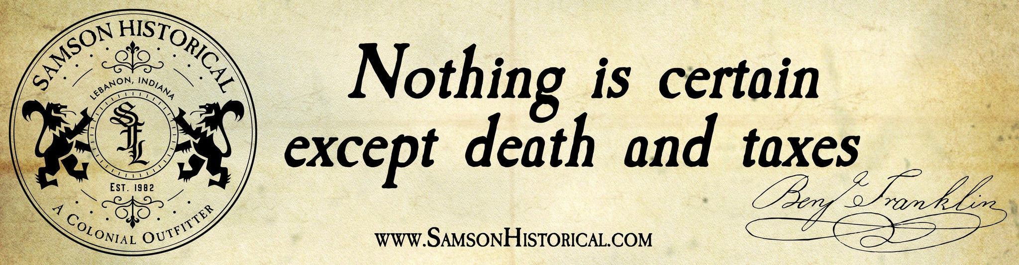 Bumper Stickers - Samson Historical