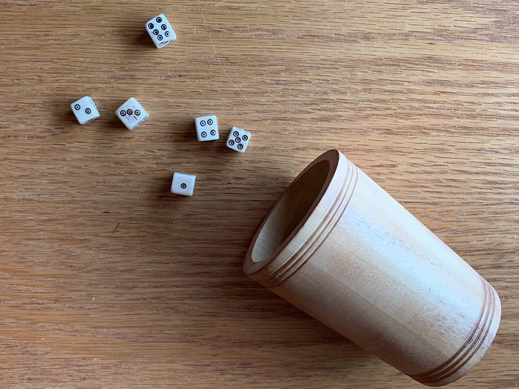 Wooden Dice Cup - Samson Historical