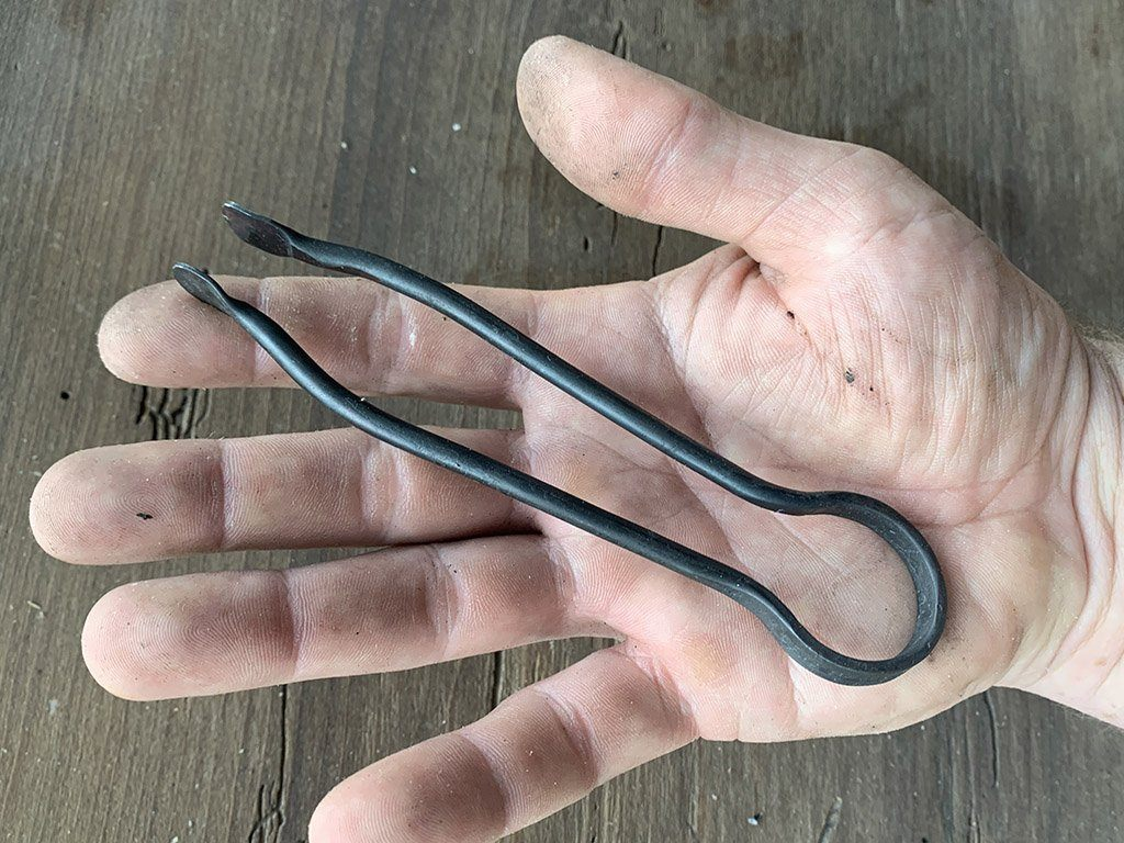 Forged Pocket Ember Tongs - Samson Historical