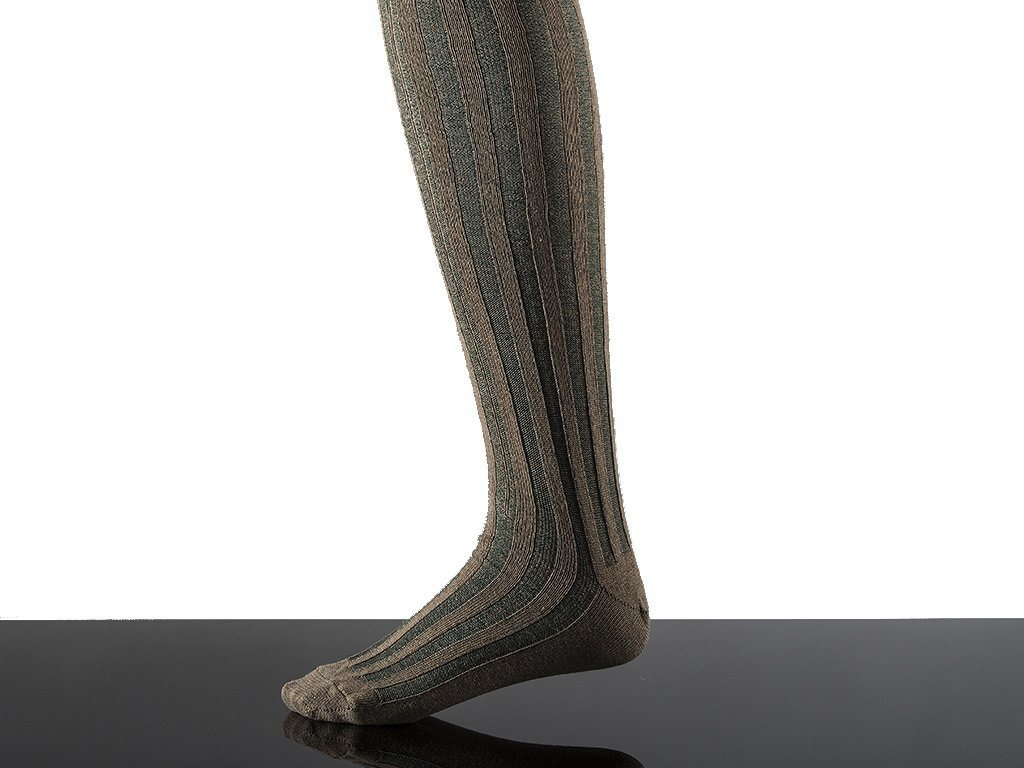 Striped Cotton Stocking - Samson Historical