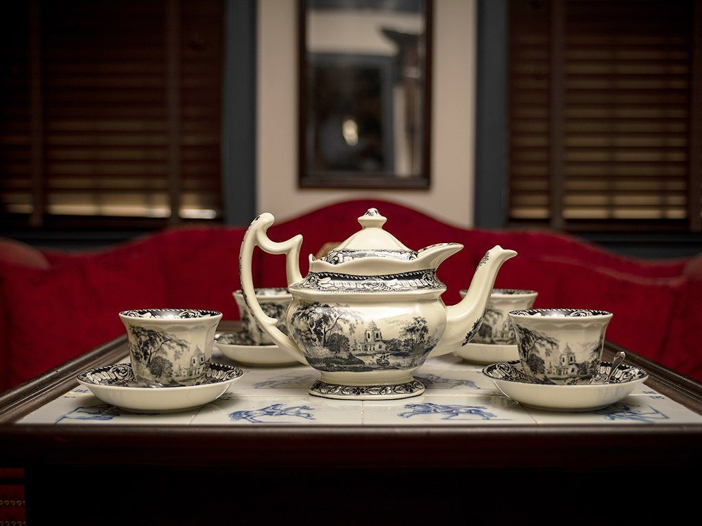 Tea Set - Pond Fishing - Samson Historical
