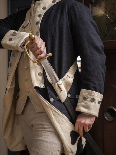 Revolutionary War Regimental Coat - Blue & White - Samson Historical