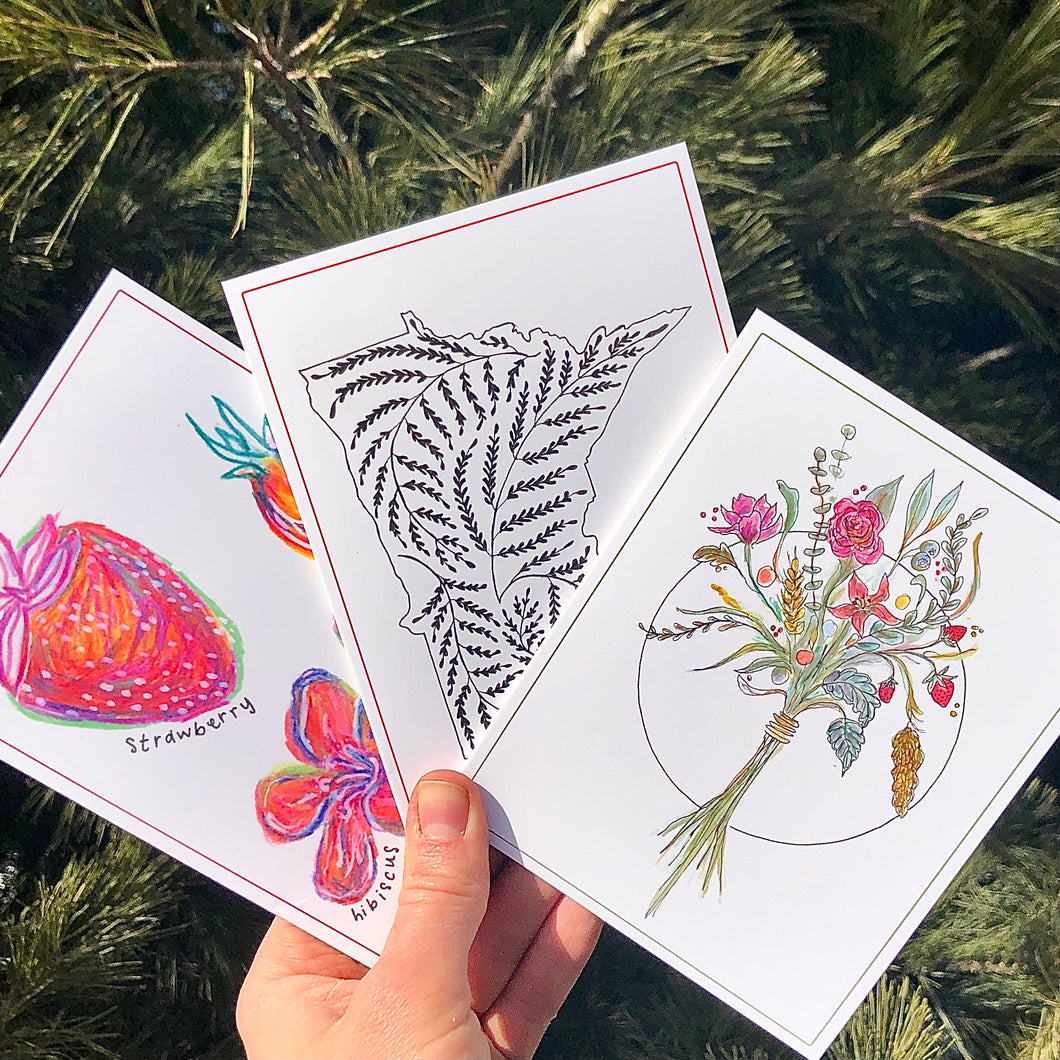Illustrated Little Hill inspired Notecards (Set of 3)
