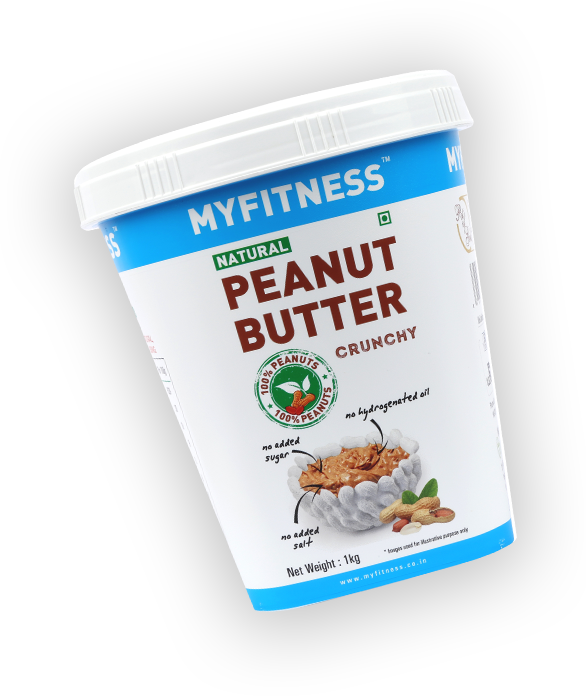 MYFITNESS Natural Peanut Butter: Crunchy