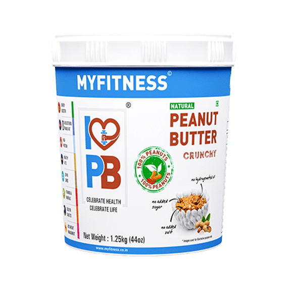 MyFitness Natural Peanut Butter: Crunchy (1250g) | Vegan | Keto-Friendly | Gluten Free