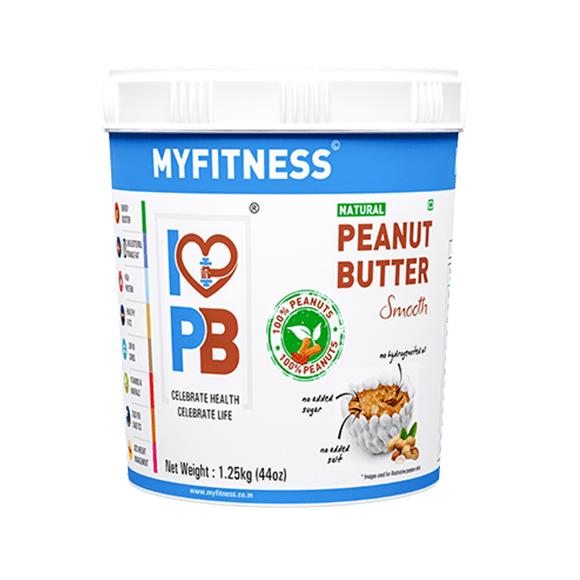 MyFitness Natural Peanut Butter: Smooth (1250g) | Vegan | Keto-Friendly | Gluten Free