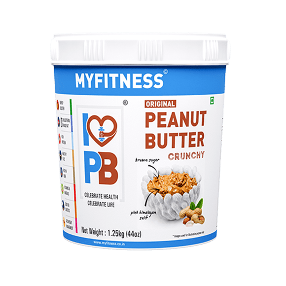 MyFitness Original Peanut Butter: Crunchy (1250g) | Vegan | Keto-Friendly | Gluten Free