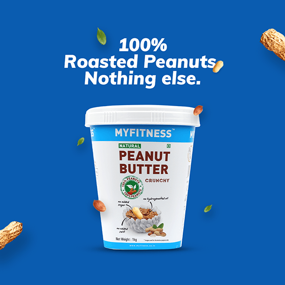 MYFITNESS Natural Peanut Butter: Crunchy (1250g)