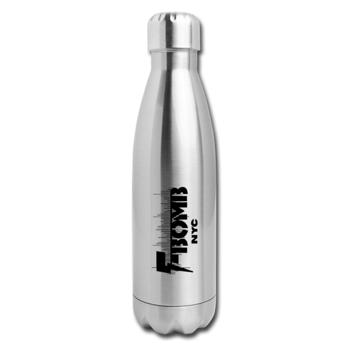 F-BOMB BOLT Insulated Stainless Steel Water Bottle - silver