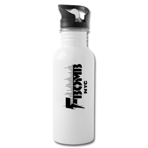 F-BOMB BOLT Water Bottle - white